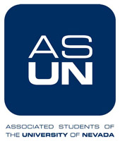 "The letters ""ASUN"" in a blue box"
